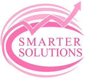 Smarter Solutions, pink business logo
