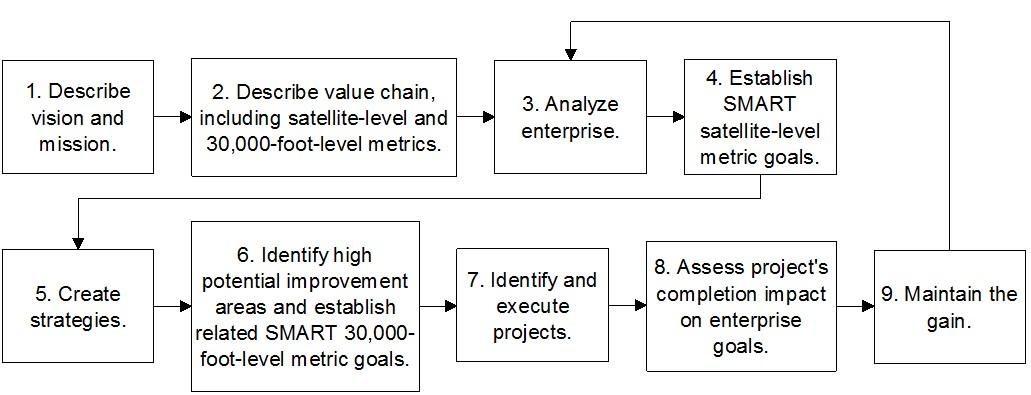Figure 1: 9-step IEE Operational Excellence System