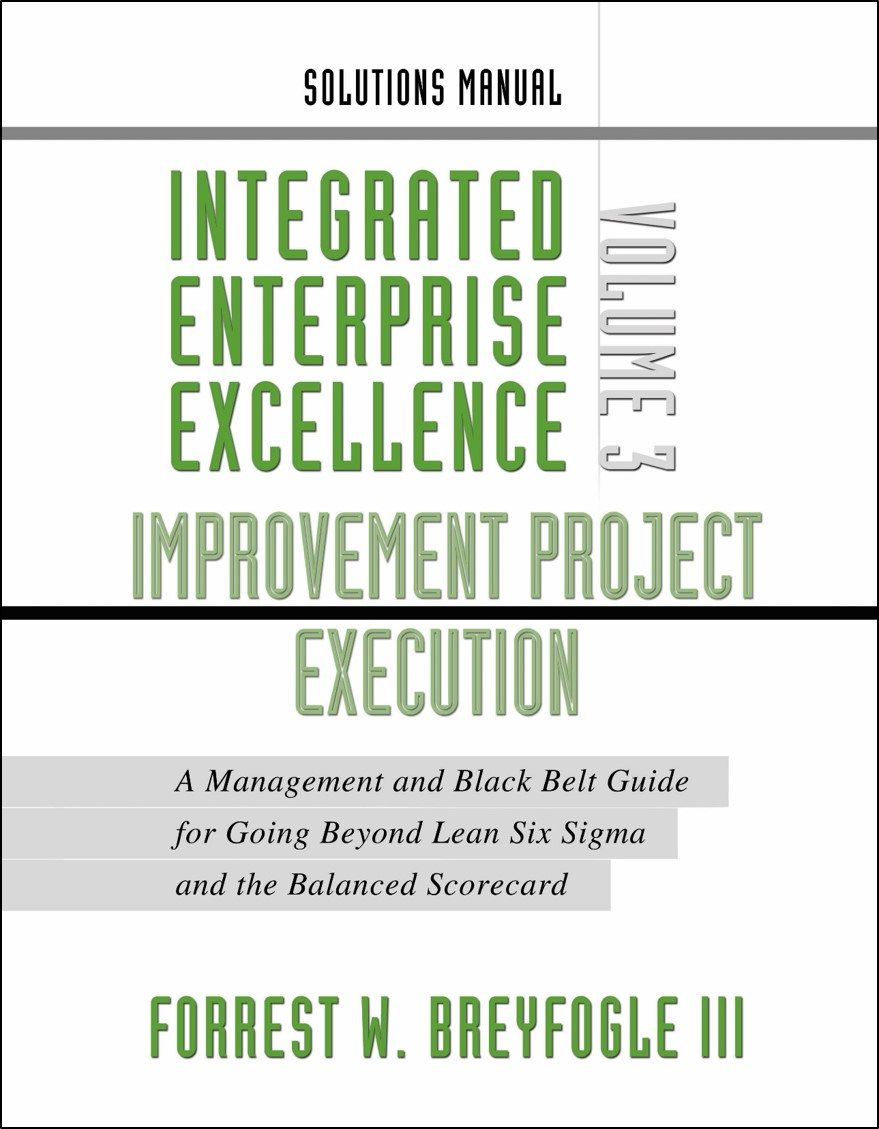 Lean Sigma Books For Training With Examples And Exercises Datasets