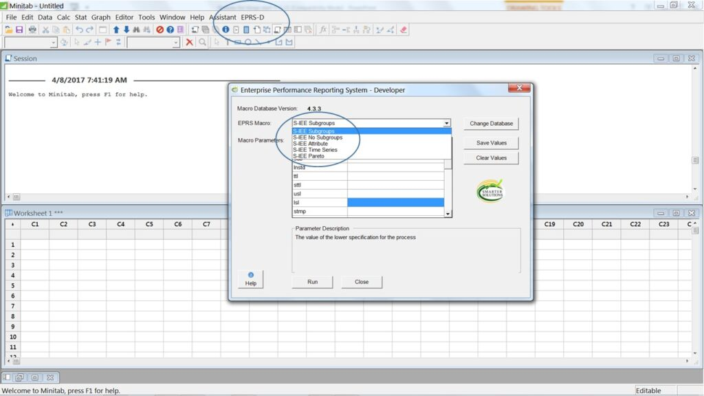 Minitab add-in for creating predictive performance Metrics