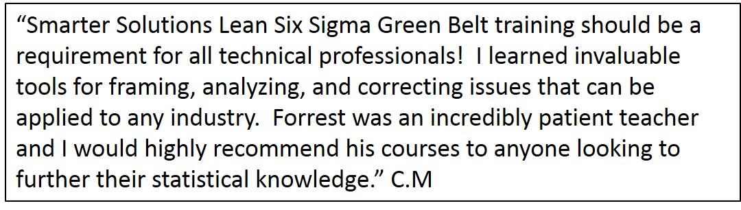 Lean Six Sigma Green Belt Training Certification Smarter Solutions