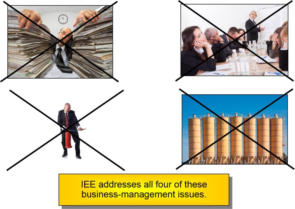 business management system training -- IEE address 4 business management issues