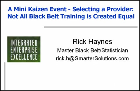 lean six sigma black belt training and certification webinar