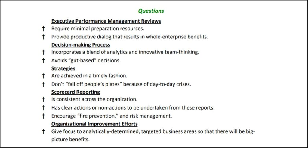 APQC Presentation Developing an Enterprise Excellence Business Management System: Polling Questions