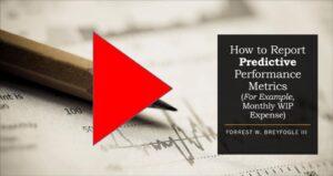 How to report performance metrics
