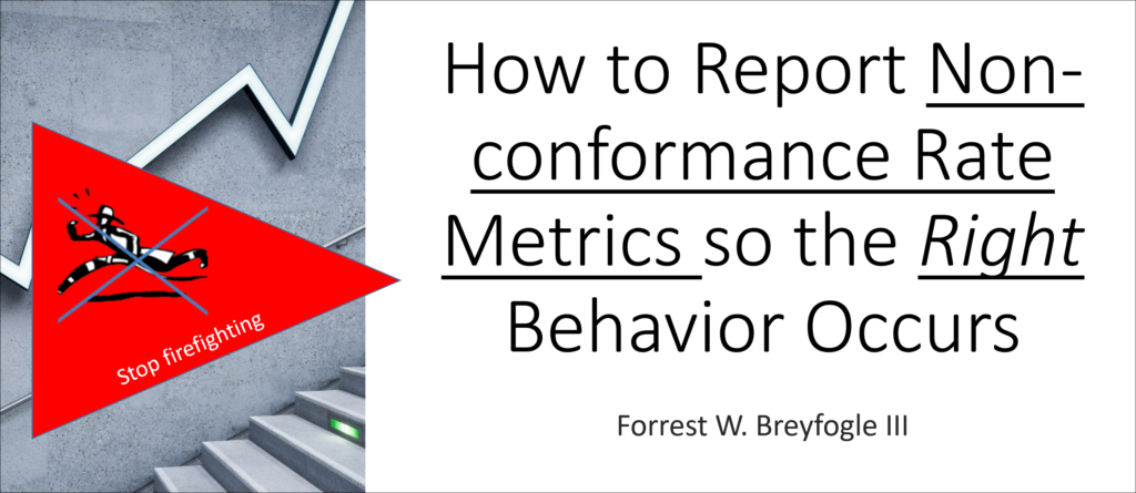 How to Report Performance Metrics of Non-conformance Rates Video