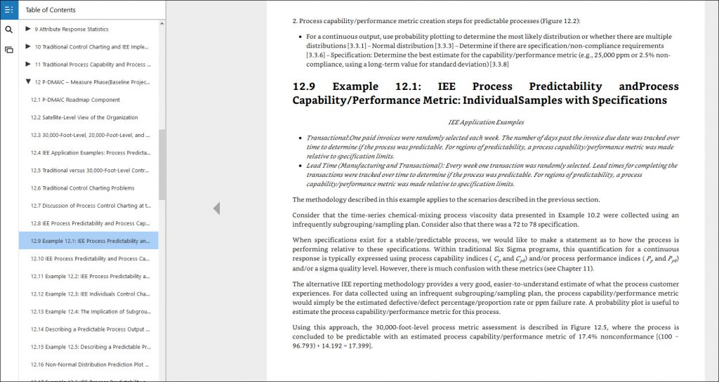 process performance indicators example applications